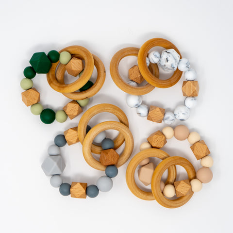 wooden teethers for babies - gifts for 1 year olds