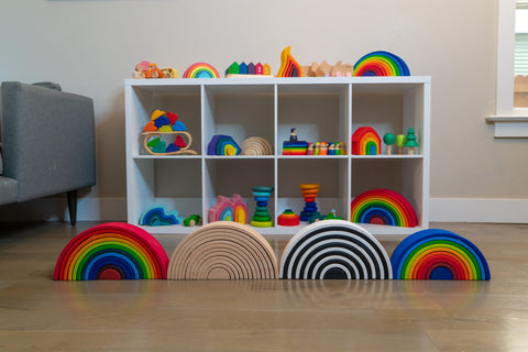 Grimm's knockoff, grimm's, cheaper grimm's, high-quality wooden toys, affordable wooden toys