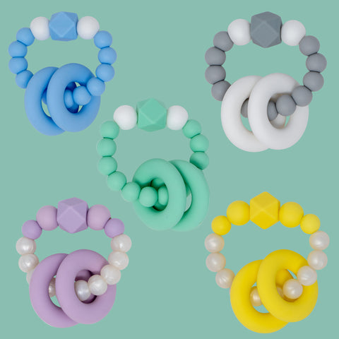 Silicone Teething Rattle Modern Baby Teether