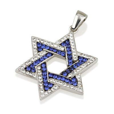 Blue & White Star of David Pendant - Holy Land Jewels