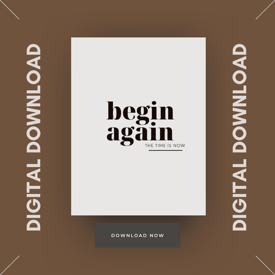 Begin Again Digital Dashboard