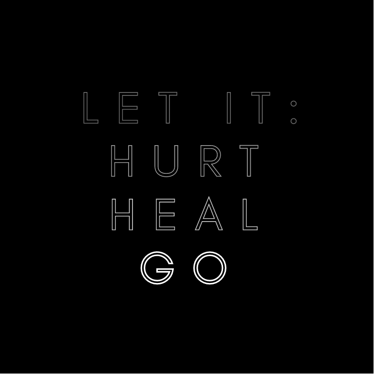 Let It Hurt Heal Go Journaling Card