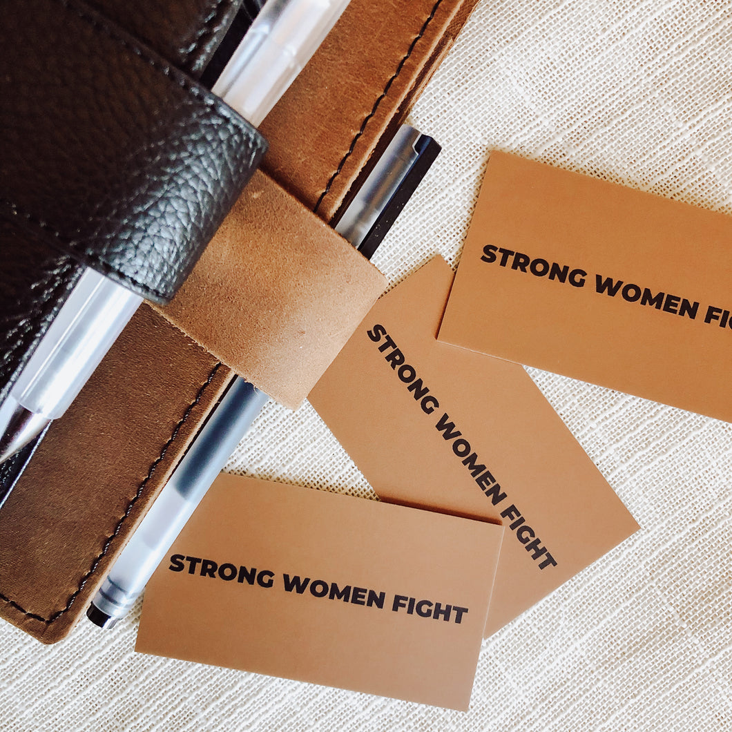 Strong Women Fight Journaling Card