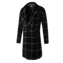 Load image into Gallery viewer, Fashion Hot Sale Classic Lapel Woolen Plaid Long Coat