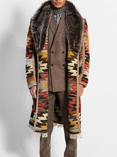 Load image into Gallery viewer, Men's Vintage Fur Collar Warm Long Coat