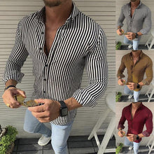 Load image into Gallery viewer, Fashion Casual Striped Men's Shirt