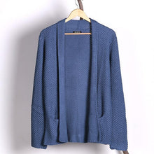 Load image into Gallery viewer, Fashion Casual Men's Solid Color Long Knit Cardigan Sweaters