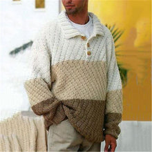 Load image into Gallery viewer, Fashion men's stitching long-sleeve sweater