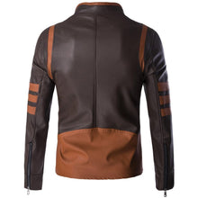 Load image into Gallery viewer, High-End Leather Motorcycle Leather Logans  Bomber Casual Standing Collar Mans Coats Jacket