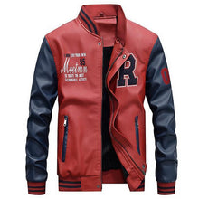 Load image into Gallery viewer, Casual  PU Jacket Baseball Stand New Tide Men's Leather