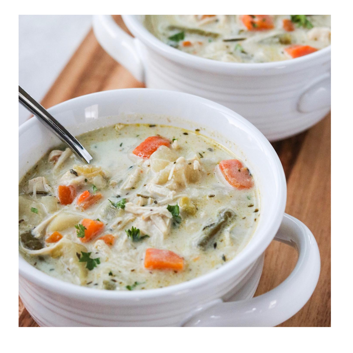 Chicken Pot Pie Stew ~ From the Freezer