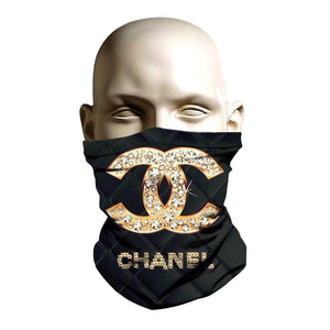 Face Mask - Chanel Gold design