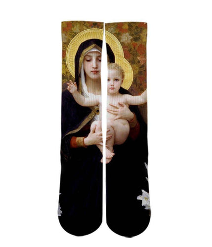 Born again printed crew socks - DopeSoxOfficial