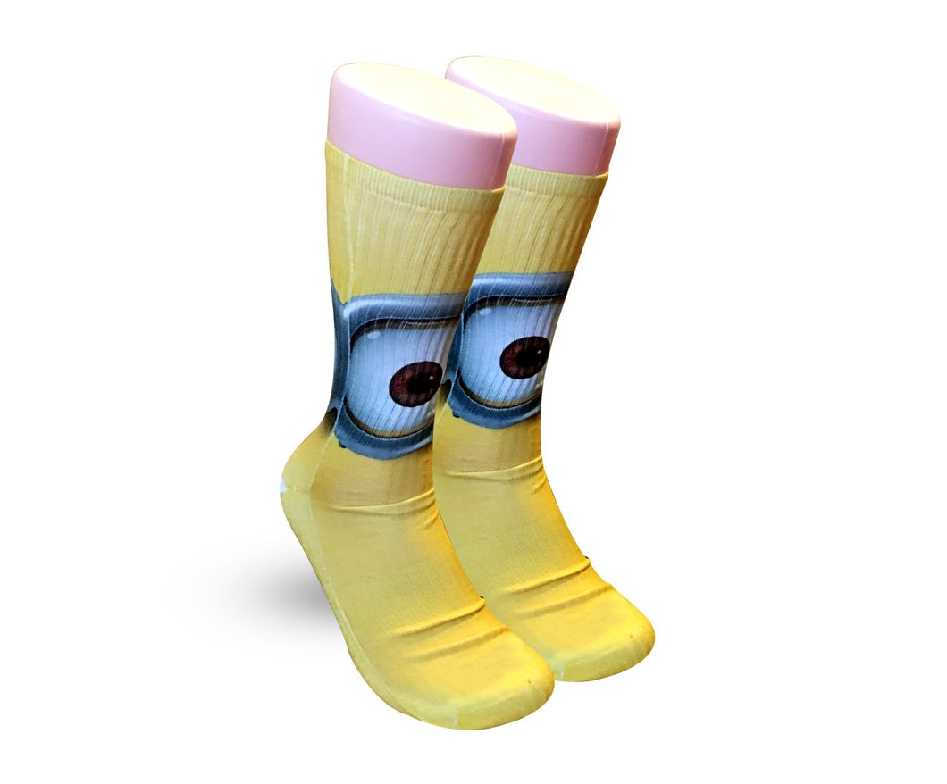 Minions Yellow All over print elite socks - DopeSoxOfficial