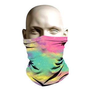 Ski Mask - Rainbow Galaxy clouds design