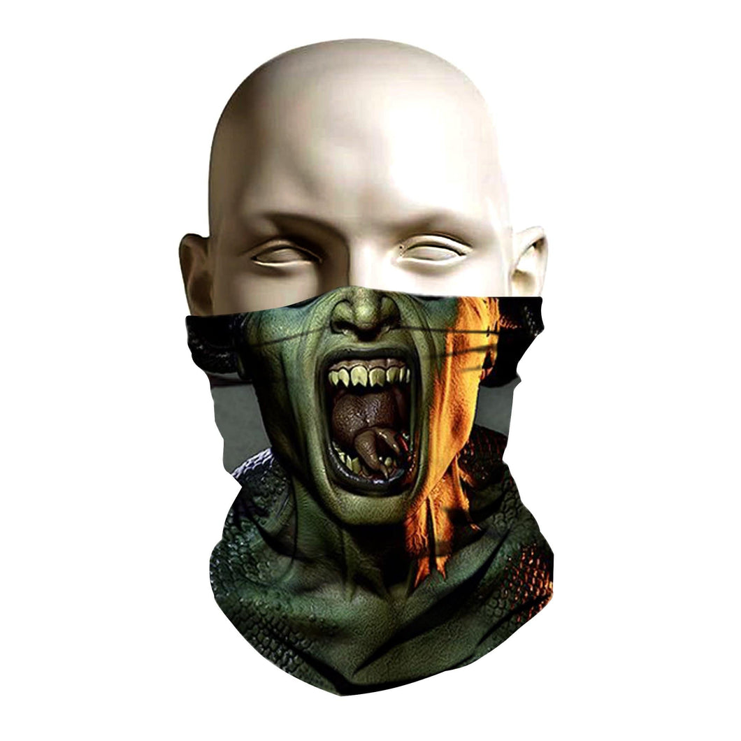 Ski Mask face shield - Evil Medusa design