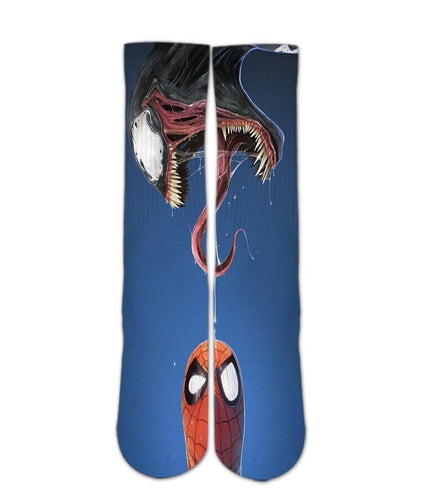 Spider man venom Custom Elite Crew socks - DopeSoxOfficial