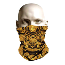 Load image into Gallery viewer, Face Mask - Versace gold design