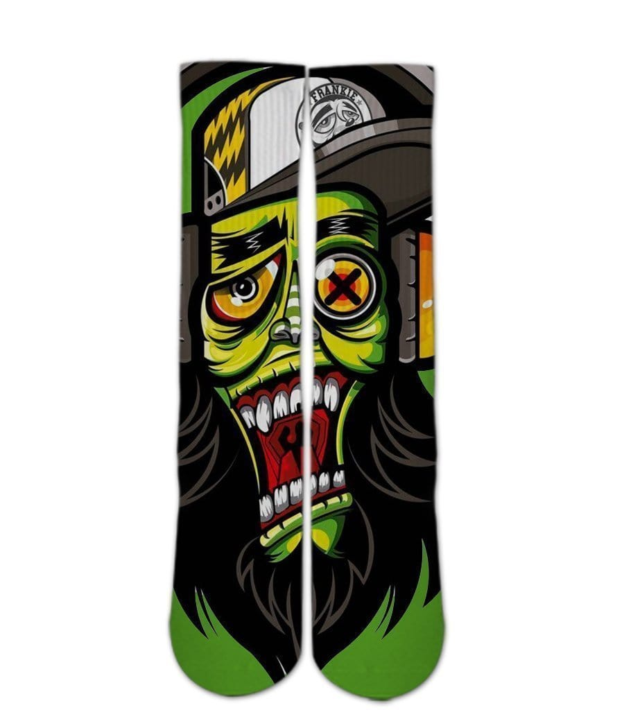 Cool zombie socks -Custom Elite Crew socks - DopeSoxOfficial