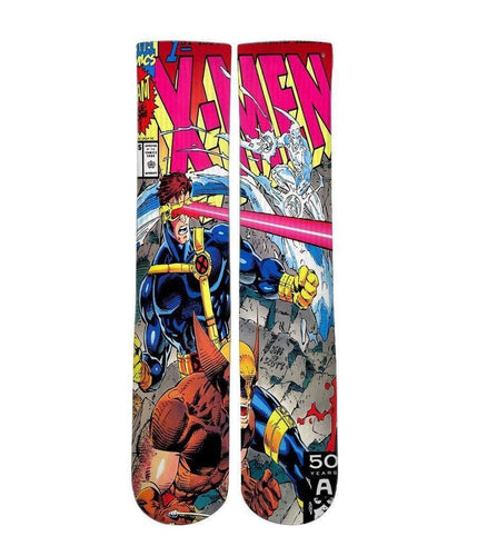 Xmen Comic Book -Custom Elite Crew socks - DopeSoxOfficial