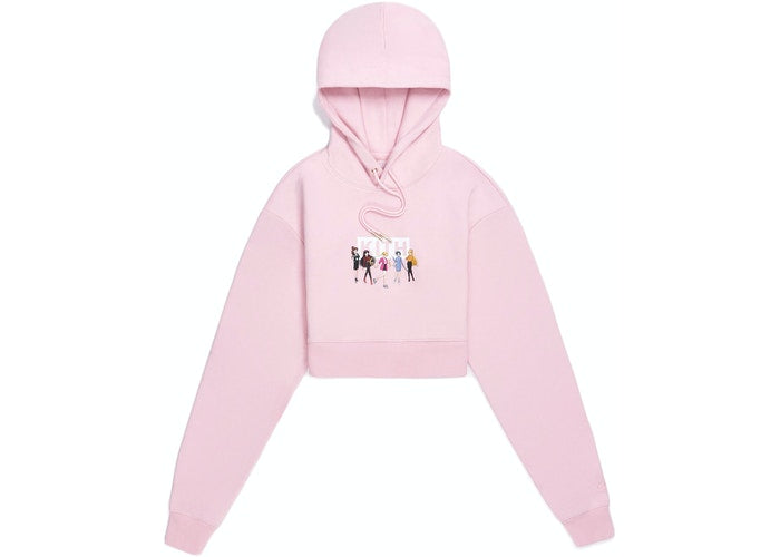 Kith Women x Sailor Moon Alexa Cropped Hoodie Pink
