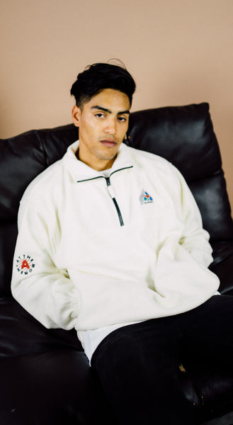 Polar Fleece Half Zip white