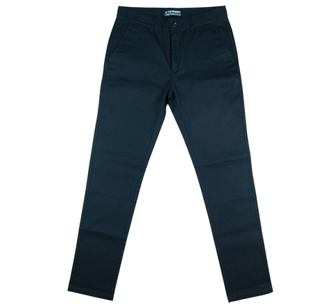 Cotton Twill Chino Pants Black