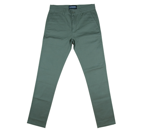 Cotton Twill Chino Pants Olive
