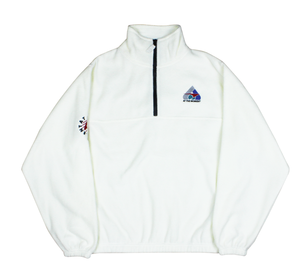 Polar Fleece Half-Zip White