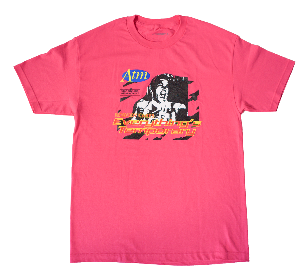 Temporary Tee Hot Pink