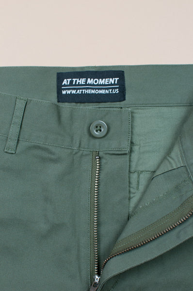 Cotton Twill Chinos Olive