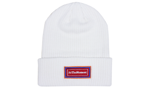 Re-Badge Beanie White