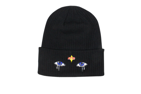 Eyes Beanie Black