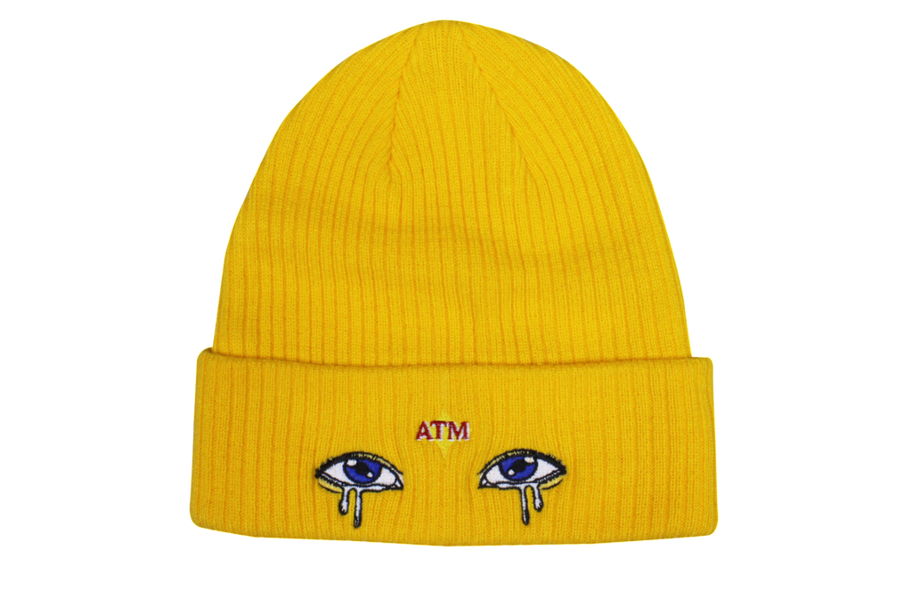 Eyes Beanie Yellow
