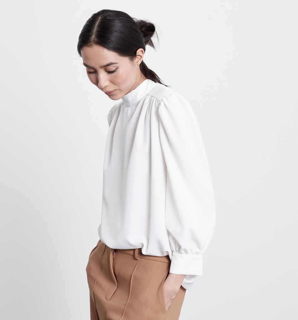 Ashely Pleated Sleeve Sweat