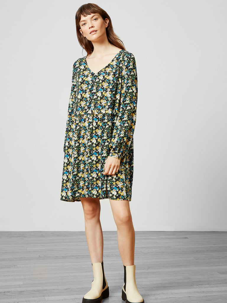Abbie Floral Smock Dress