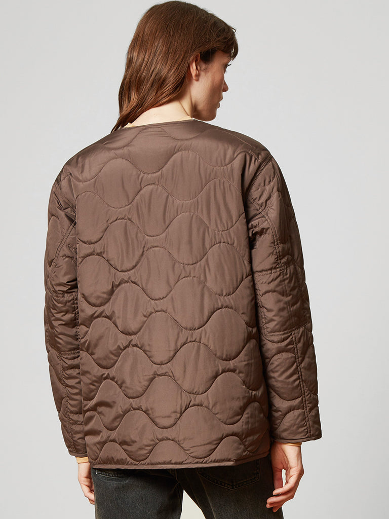 Alley Quilted Jacket Choc