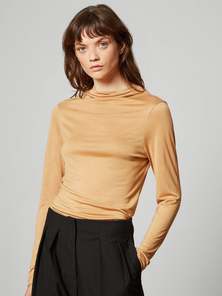 Angie High Neck Jersey Top