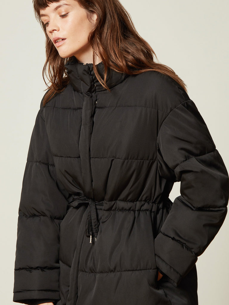 Autumn Oversized Drawcord Puffer Jacket