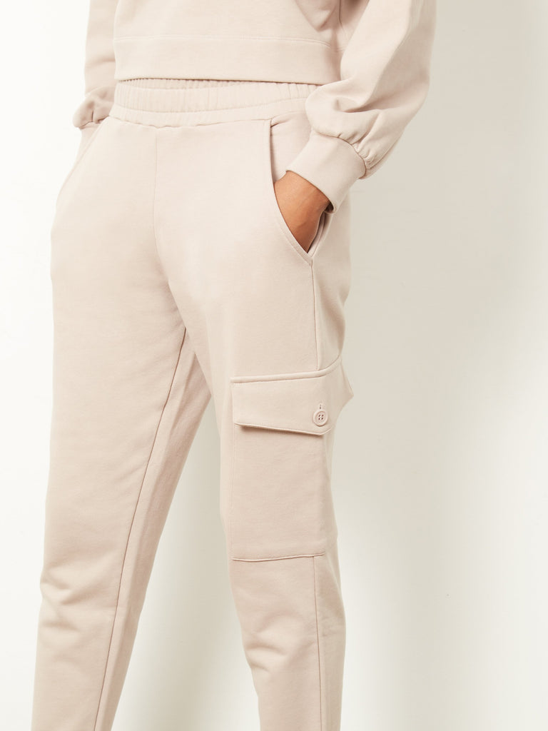 Beda Sweatpants With Patch Pocket Mushroom