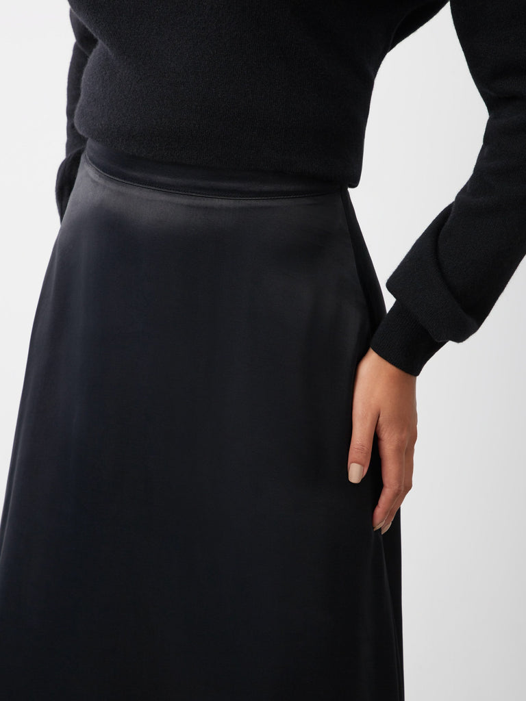 Billie Satin Midi Skirt