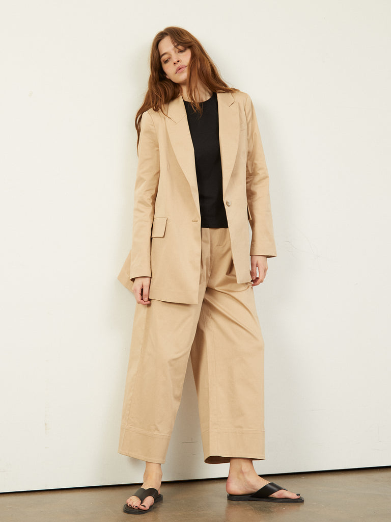 Celine Tailored Single Breasted Blazer Stone