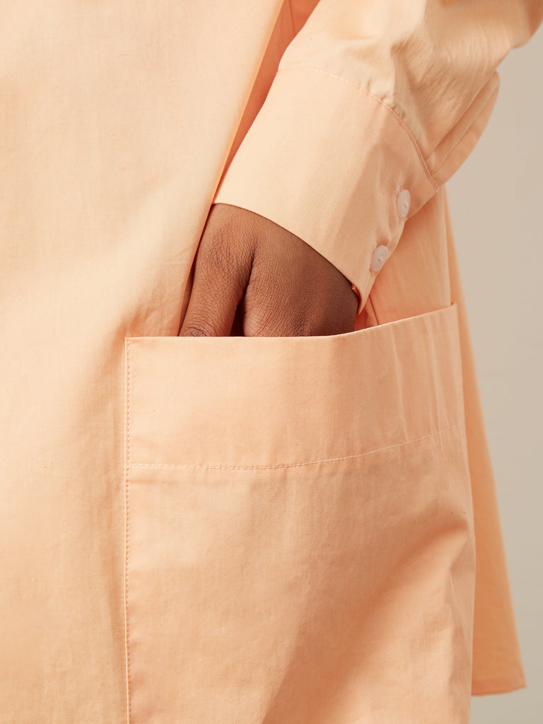 Capella Oversized Patch Pocket Shirt Apricot