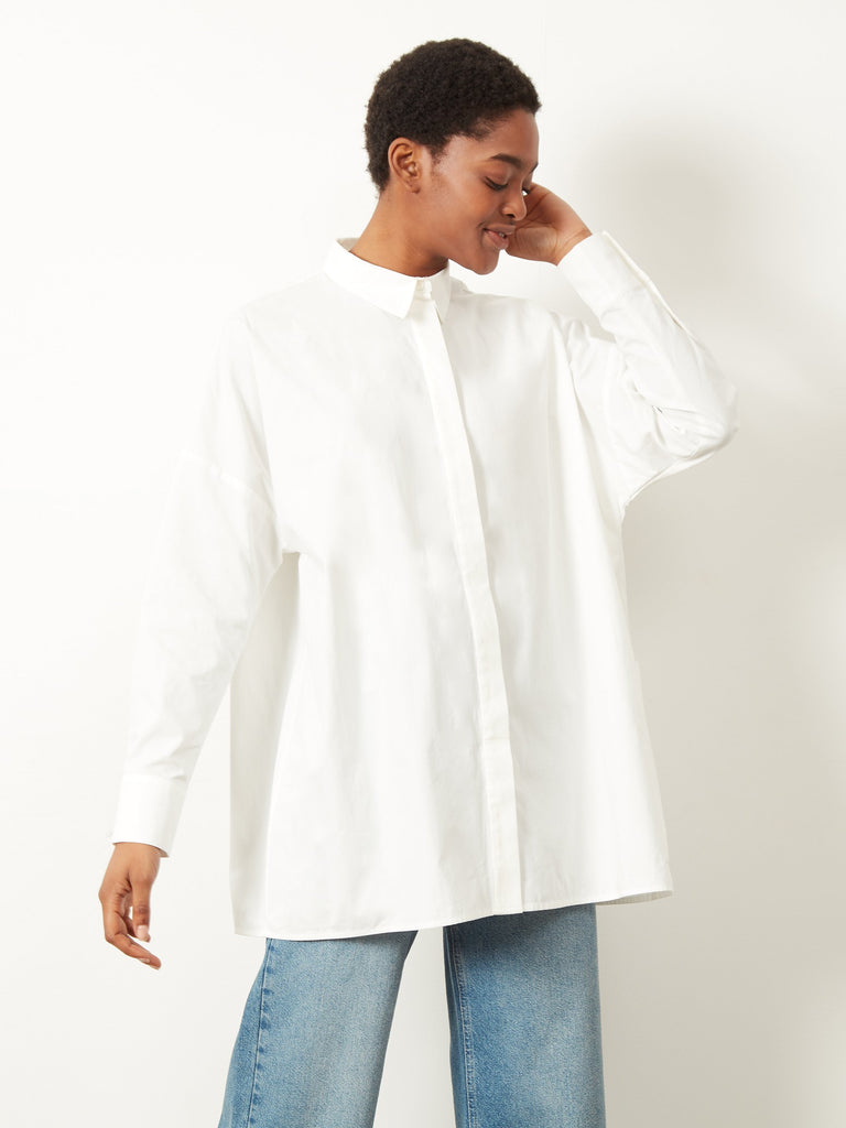 Capella Oversized Patch Pocket Shirt Cream