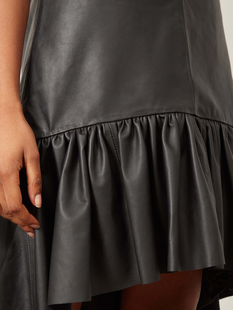 Cassidy Leather Dress Black