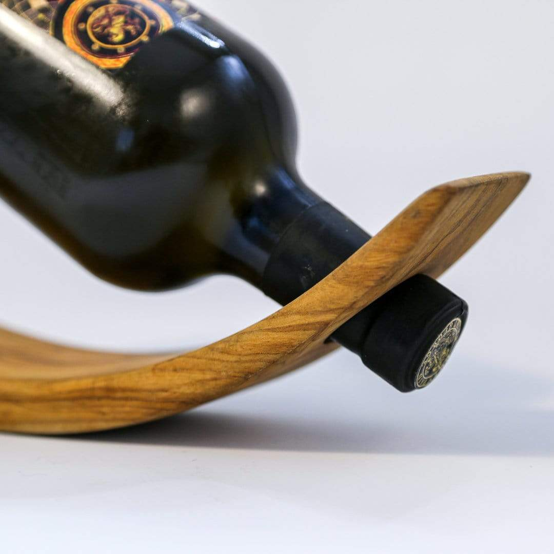 Shams El Balad Tableware Olive Wood Wine Bottle Holder
