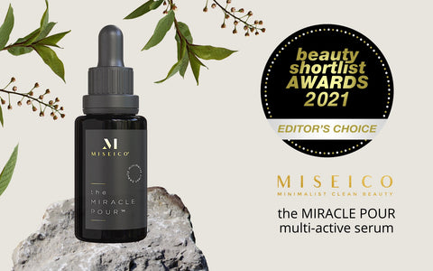 2021 Beauty Shortlist Award - Editor Choice - MISEICO, the MIRACLE POUR multi-active serum