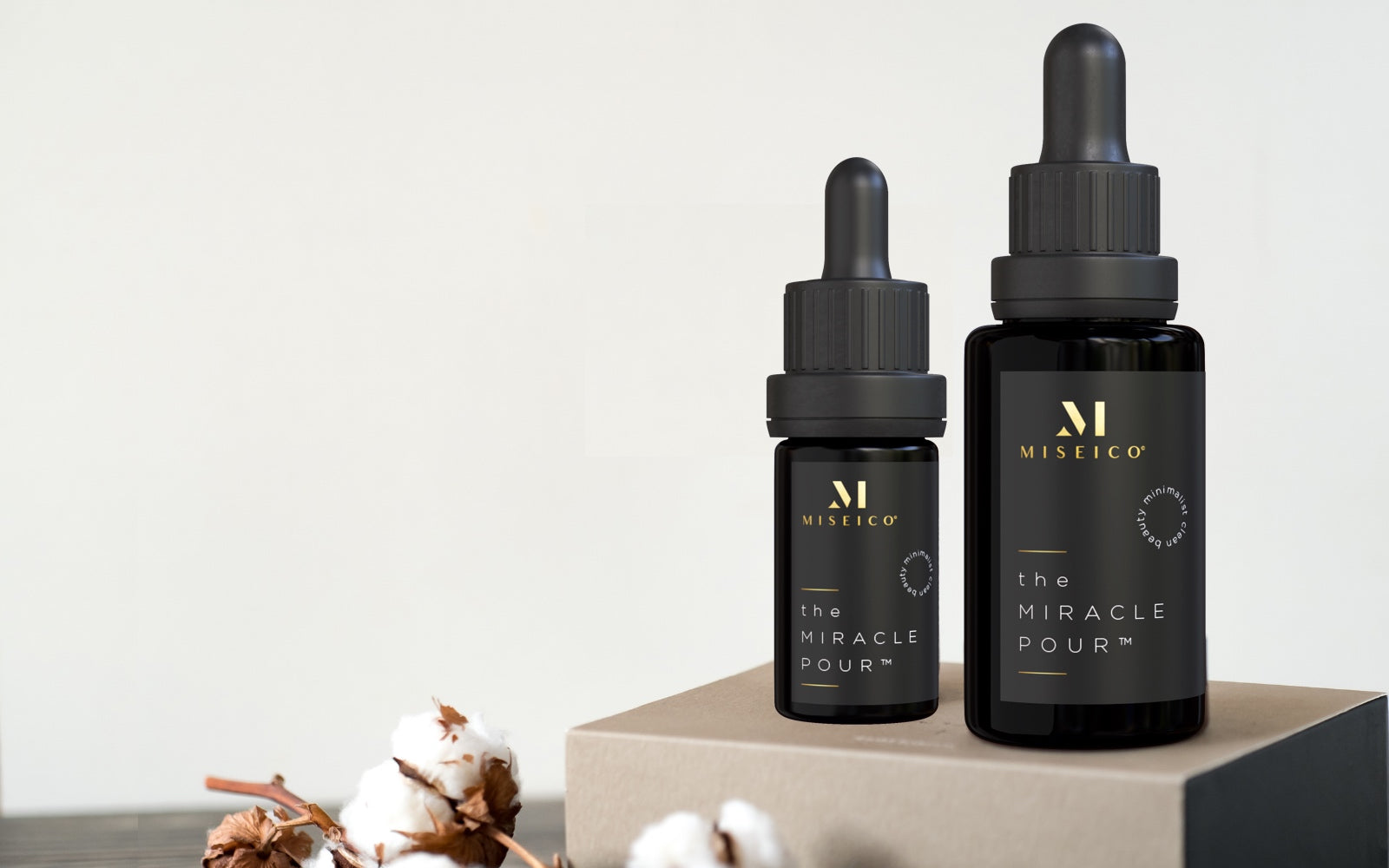 MISEICO Minimalist Clean Beauty | the MIRACLE POUR multi-active serum for all skin tones, skin types and gender | Inclusive Beauty | Sustainable Skincare
