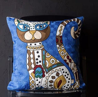 Luxurious Blue Cat Cushion
