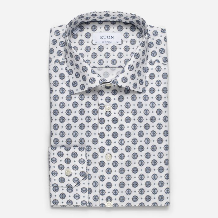 Eton Contemporary Fit Medallion Shirt